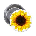 Sunny Sunflower 2 Inch Round Button