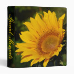 Sunny sunflower and meaning 3 ring binder