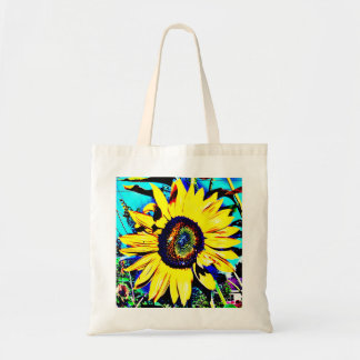 Sunny Sunflower Canvas Tote