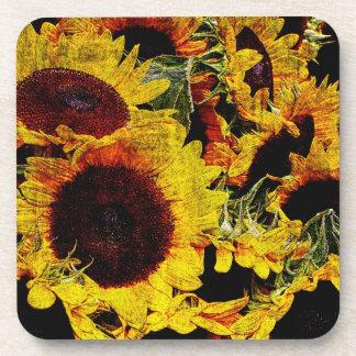 Sunny sunflower coasters