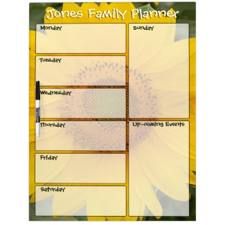 Sunny Sunflower Family Weekly Planner