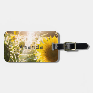 Sunny Sunflower Field Bag Tag
