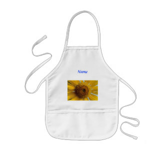 Sunny Sunflower -  Giant Yellow Center Close up Kids' Apron