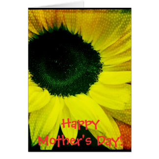 Sunny Sunflower Happy Mother's Day Card