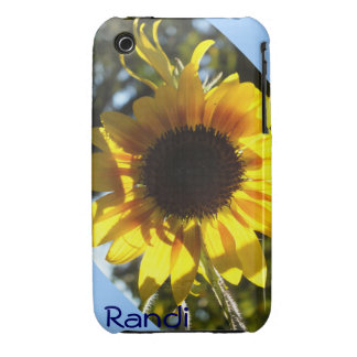Sunny Sunflower iPhone 3  case *personalize* Case-Mate iPhone 3 Case