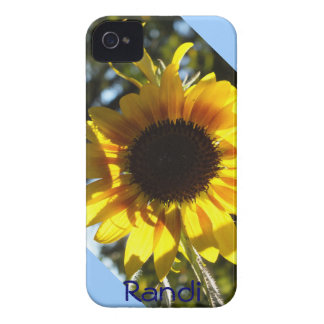 Sunny Sunflower iPhone 4 case *personalize*