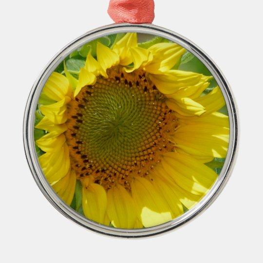 Sunny Sunflower Metal Ornament