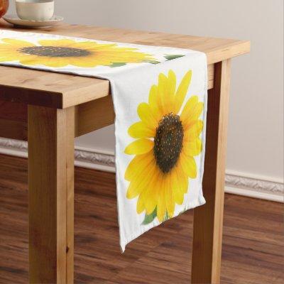 Bon Appetite Sunflower Table Runner   Zazzle.com
