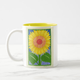 Sunny Sunflower Two-Tone Coffee Mug