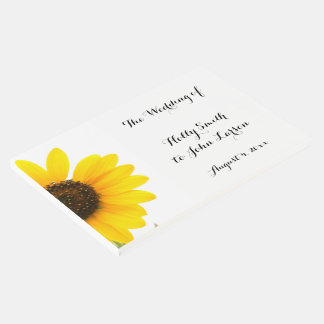 Sunny Sunflower Wedding Guestbook