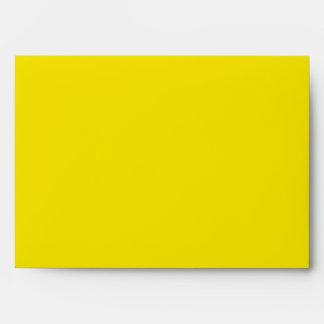 Sunny Sunflower Yellow Envelopes