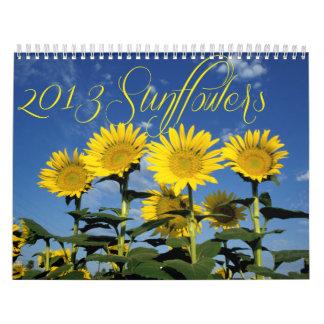 Sunny Sunflowers 2013 Calendar