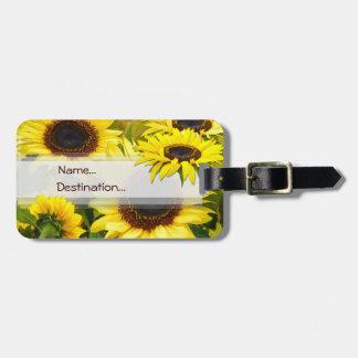 Sunny Sunflowers Bag Tag