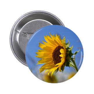 Sunny Sunflowers 2 Inch Round Button