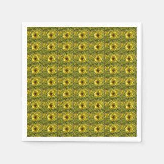 Sunny Sunflowers Glow Paper Napkins