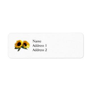 Sunny Sunflowers Return Address Label