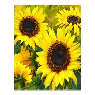 Sunny Sunflowers Letterhead