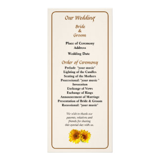 Sunny Sunflowers Wedding Program