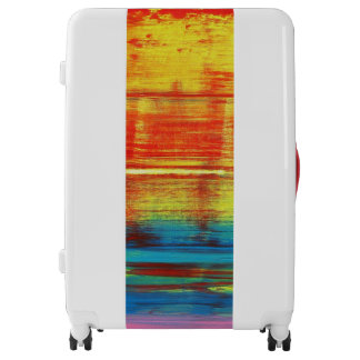 Sunny Sunset abstract art painting Luggage