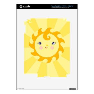 Sunny Sunshine Rays Decal For iPad 3