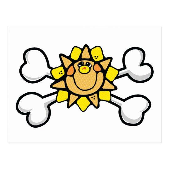 Sunny Sunshine Skull and Crossbones Postcard