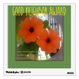 Sunny Susy Good Neighbor Award Wall Decal