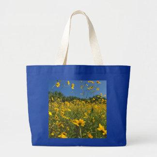 Sunny Swamp Sunflowers Canvas Bags