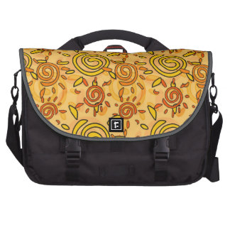 Sunny Swirl Pattern; Sun Laptop Computer Bag
