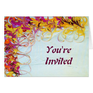 Sunny Swirls Invitation Card