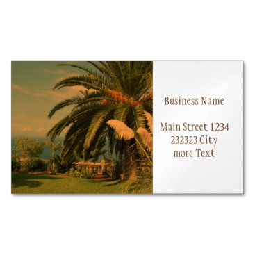 Beach Themed sunny Tenerife 2 Magnetic Business Card