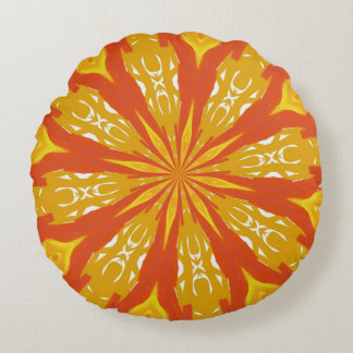 Sunny Times Two Round Pillow