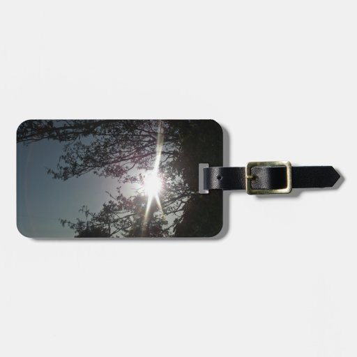 Sunny Tree Branches Bag Tag
