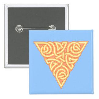 Sunny Triangle Knot Square Button