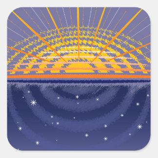 Sunny Universe Customizable Sticker