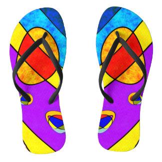 Sunny vivid  colour slim straps flip flops