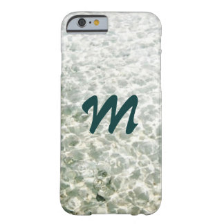 Sunny Water Monogrammed Barely There iPhone 6 Case