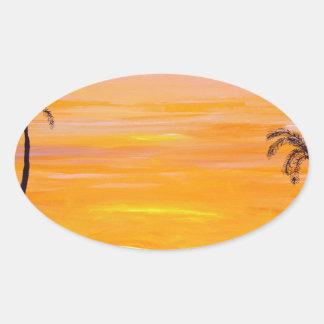 Sunny Weekend Oval Sticker
