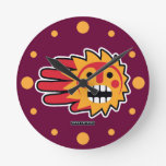 Hand shaped Sunny Weekend Round Clock