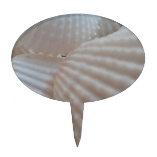 Sunny White Seashells, Sea Shell Beach Summer Love Cake Topper