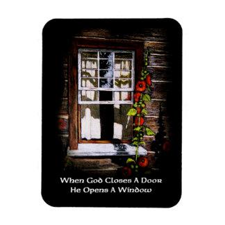 Sunny Window: Art: God Closes Door, Opens Window Flexible Magnets