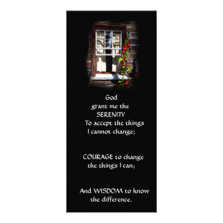 SUNNY WINDOW: ART: SERENITY PRAYER RACK CARD