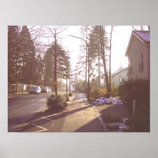 Sunny Winter Morning Poster