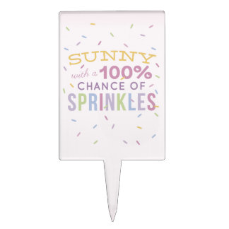 Sunny With a Chance of Sprinkles Cake Pick
