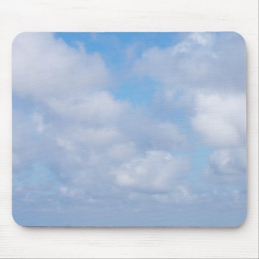 sunny with clouds mouse pad