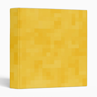 Sunny Yellow Abstract Design. 3 Ring Binder