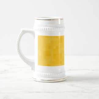 Sunny Yellow Abstract Design. Beer Stein