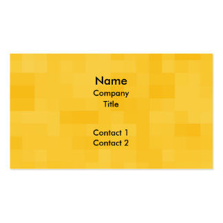 Sunny Yellow Abstract Design. Business Card