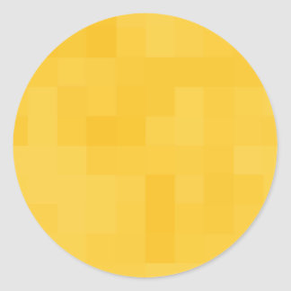 Sunny Yellow Abstract Design. Classic Round Sticker