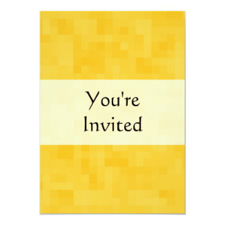 Sunny Yellow Abstract Design. 5x7 Paper Invitation Card