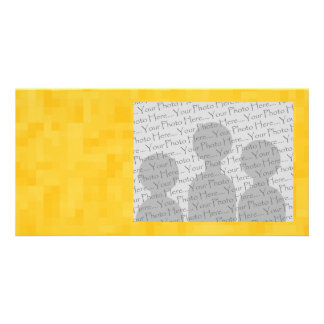 Sunny Yellow Abstract Design. Photo Card